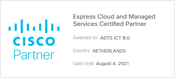 Express Cloud and Managed Services Certified Partner certificering