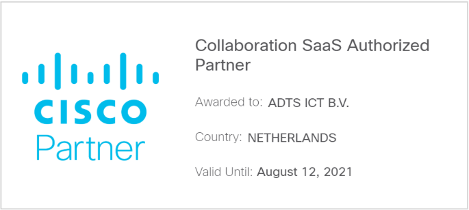 Collaboration SaaS Authorized Partner certificering
