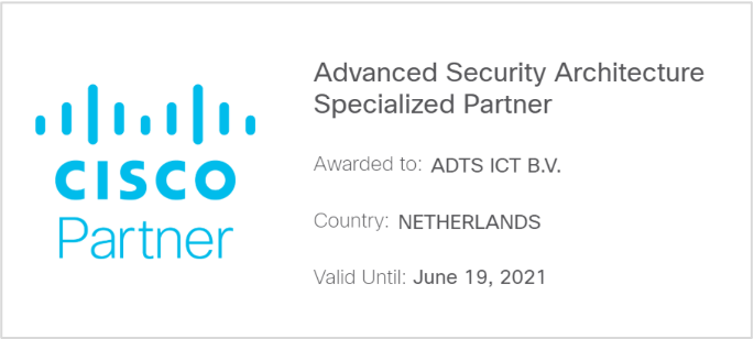 Advanced Security Architecture Specialized Partner certificering